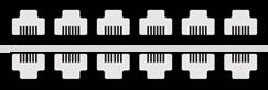Réseaux informatique inférieur à 12 prises